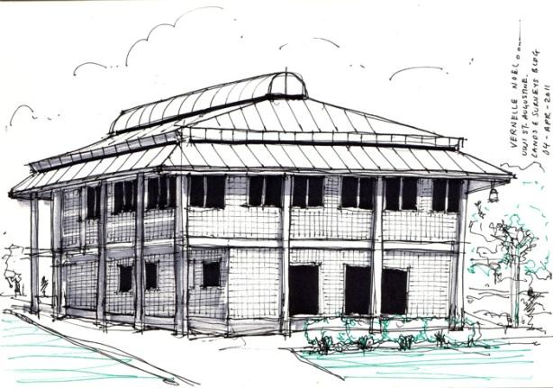UWI Lands & Survey Building, St. Augustine, Trinidad, vernelle noel, thinking insomniac