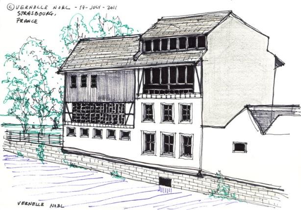 Strasbourg, France, thinking insomniac, vernelle noel, architecture, sketchblog,