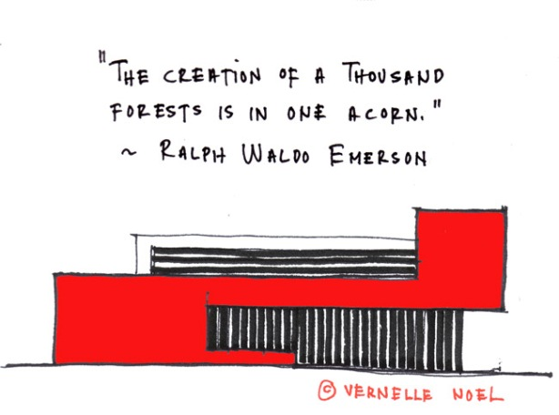 Abstract Architecture, ralph waldo emerson, thinking insomniac, vernelle noel